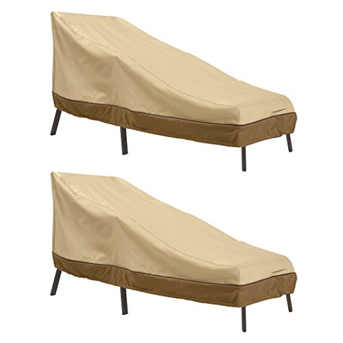 Classic Accessories Veranda Patio Chaise Lounge Cover, Medium (2-Pack)