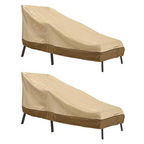 Classic Accessories Veranda Patio Chaise Lounge Cover, Medium (2-Pack) (Ca Chat Duck)
