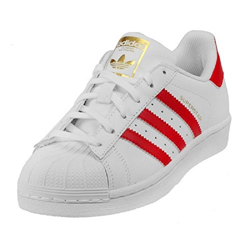 Adidas Womens Superstar Sneakers White/Scarlet/White Womens Womens 6