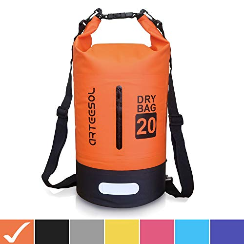 arteesol Dry Bag 5L/10L/20L/30L Waterproof Dry Bag Rucksack with Double Shoulder Strap Backpack for Swimming Kayaking Boating Fishing Travelling Cycling Beach