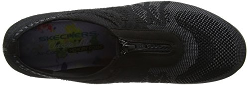 Charcoal Sneaker Donna Black Transcend Infilare Skechers Unity Nero wn0xBB