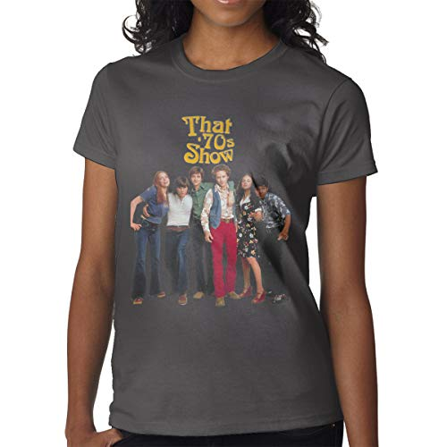 COUDOYLE Women That 70s Show Short-Sleeve T-Shirts Tops Tees Deep Heather