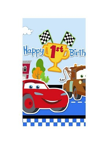 (Cars 1st Birthday Plastic Table Cover (1ct))