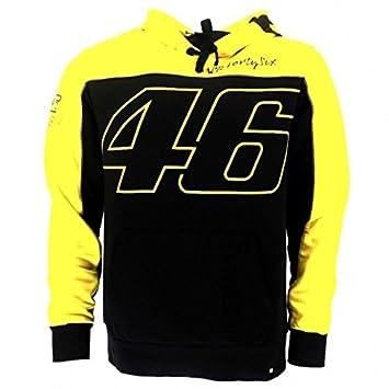 Sudadera con capucha oficial de Valentino Rossi VR46 moto GP negro/amarillo: Amazon.es: Coche y moto