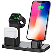 #LightningDeal BEACOO Stand for iwatch 5/6, Charging Stand Dock Station for AirPods pro Stand Charging Docks Holder, Support for iwatch 5/4/3/2/1 NightStand Mode and for iPhone Series 12/11/X/7/7plus/SE/5s