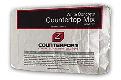 Concrete Countertop Mix   High Strength   White 50 Lbs