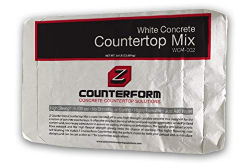 (Concrete Countertop Mix - High Strength - White 50 lbs)