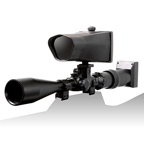 NiteSite Wolf 330 Yards Identification Range Scope Mounted Night Vision System for Zero Light Hunting (Black, Full Kit)