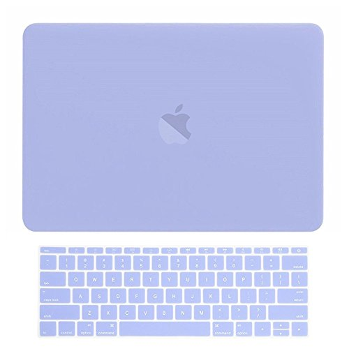 TOP CASE - MacBook Pro 13 Without Touch Bar (Release 2017 & 2016) 2 in 1 Bundle, Rubberized Hard Case + Matching Color Keyboard Cover for MacBook Pro 13-inch A1708 Without Touch Bar - Serenity Blue by TOP CASE