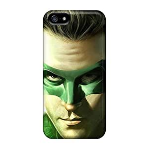 Protective Hard Cell-phone Cases For Iphone 5/5s (mei18176KWCa) Allow Personal Design Colorful Green Lantern Series