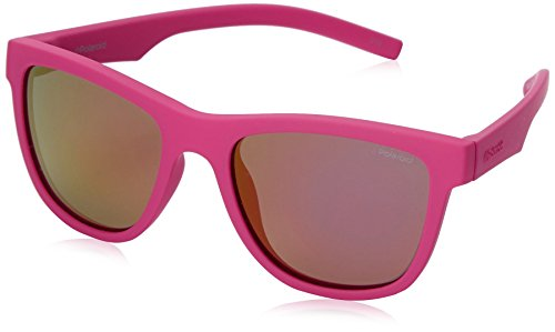 Polaroid Sunglasses Pld8018s Polarized Wayfarer Sunglasses, Dark Pink/Brown Mirror, 47 - Sunglasses Kids Polaroid