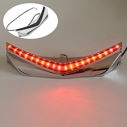 - XMT-MOTO Rear Fender Tip with LED Run-Brake Accent Light For Honda Goldwing GL1800 & F6B Models 2012 2013 2014 2015 2016