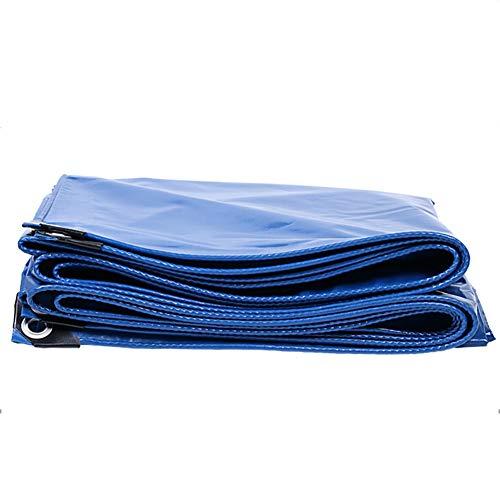 落とし穴束ねるトランスミッションCHAOXIANG ターポリン サンシェード 日焼け止め 厚い ポンチョ 耐摩耗性 軽量 PVC 厚さ0.40mm、 20サイズ、 カスタマイズ可能な (色 : 青, サイズ さいず : 3.8mx5.8m)