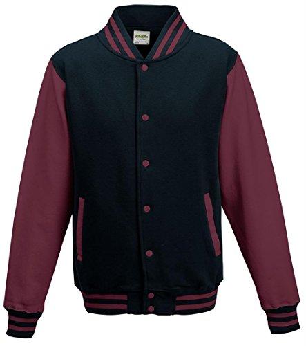 Awdis Hoods Varsity Jacket Oxford Navy/Burgundy 2XL