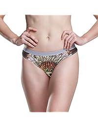 JERECY Women Underwear Bikini Indian Tribal Skull 3D Printed Sexy Low Waist Panties Hipster Comfy Briefs S