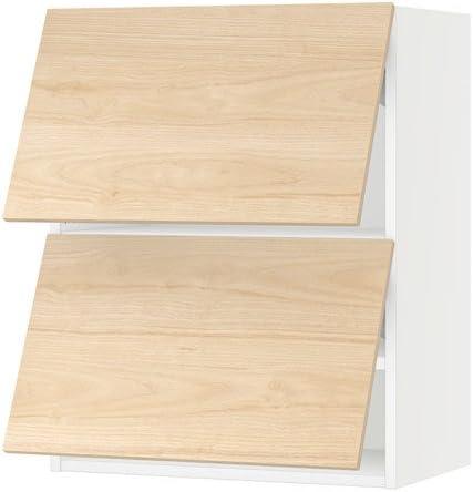 IKEA horizontal armario de pared w/2 puertas, blanco, askersund Fresno Fresno efecto de luz 24 x 15 x 30