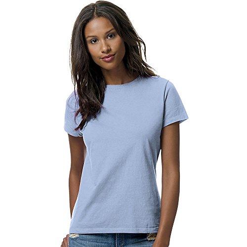 Hanes Classic-Fit Jersey Women's T-Shirt 4.5 oz, 2XL-Light Blue ()