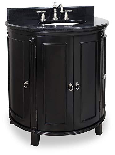Jeffrey Alexander VAN056-T Demi-Lune Vanity, Espresso ()
