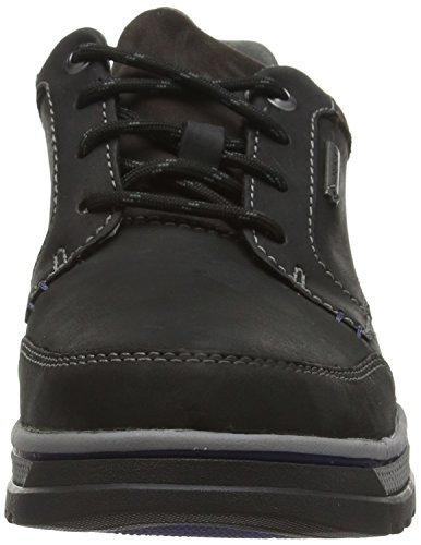 Clarks RipwayPath GTX - Zapato brogue de cuero hombre Negro (Black Leather)