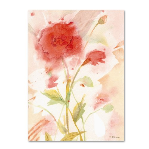 Wild Rose by Sheila Gold Ornate Frameen, 24 by 32-Inch Canvas Wall Art