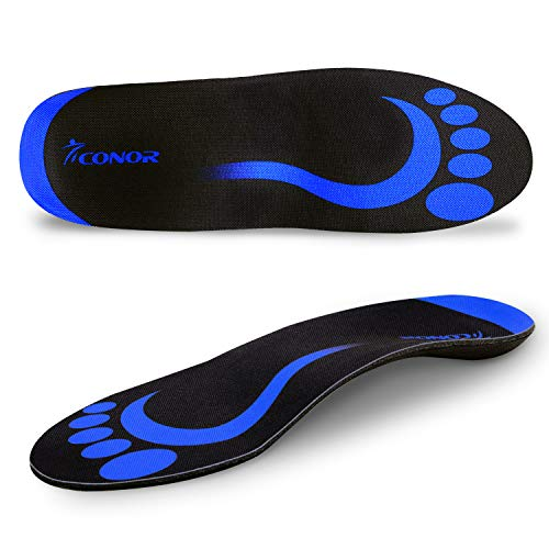 Conor Plantar Fasciitis Feet Insoles Orthotic Inserts with Arch Support Relieve Foot Pain,Flat Feet, Heel Spurs