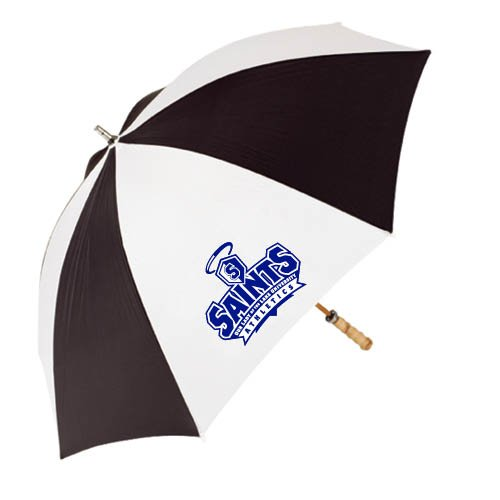 OLLU 62 Inch Black/White Umbrella 'Our Lady of the Lake University Athletics - Offical Logo' by CollegeFanGear