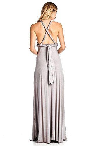 Silver USA Ami Way T Long Convertible 12 In Maxi Shirt Solid Multi Made Dress RSnwqqfO