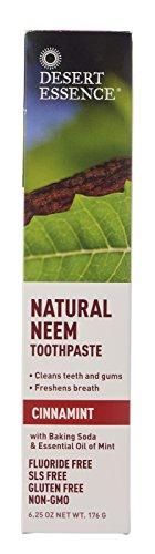 Desert Essence Neem Cinnamint Toothpaste, 6.25 Ounce