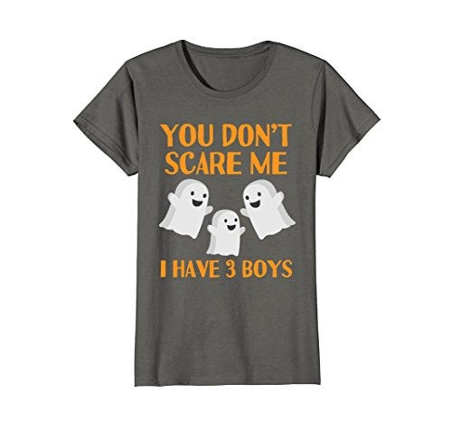 Womens Funny Mom Dad Parents of 3 Boys Sons Halloween Shirt Small (Mom And Son Costume Ideas)
