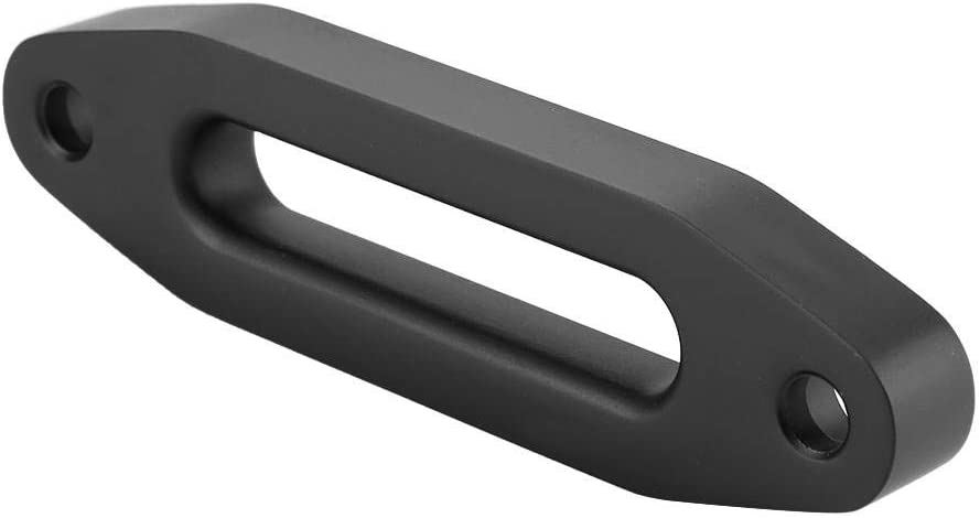 Senyar Hawse Fairlead,6inch Black Aluminum Hawse Fairlead for Synthetic Winch Rope Cable