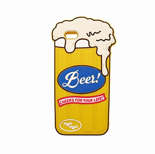 (Phone Case with Silicone 3D Cartoon Animal Cover,Kids Girls Cool Fun Cute Love Cases,Kawaii Soft Beer Can Unique Character Fashion Funny Protector)