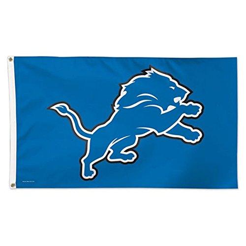 NFL Detroit Lions Deluxe Flag, 3' x 5' (Banner Lions Fan)