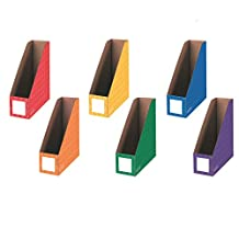 """Bankers Box® 4"""" Magazine File Holders 6 pack Assorted Colors (3381901)"""