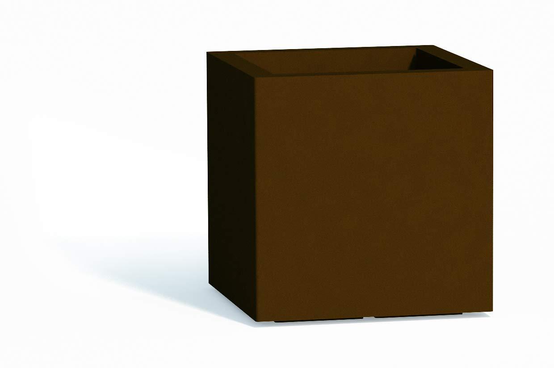 Monacis – Cube Vase Braun Moderne Möbel Vase 40 x 40 x 40 cm
