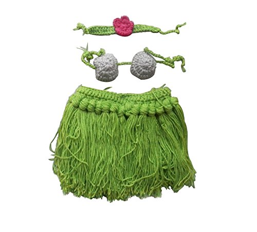 [Leegoal Baby Newborn 0-10 Months 2pcs Knitted Crochet Clothes Photo Prop Outfits] (Baby Costumes For Girls)