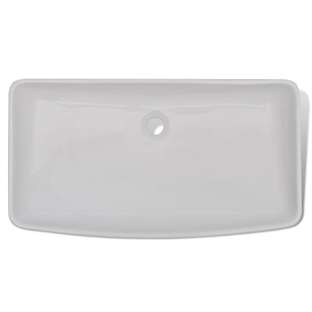 Luxury Bathroom Sink Ceramic Basin Rectangular Sink White Wash Basin Size 28'' x 15'' Practical Vessel for Everyday Use by Chloe Rossetti (Image #2)