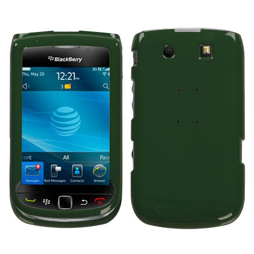 Solid Forest Green Phone Protector Cover for RIM BlackBerry 9800 (Protector Cover Blackberry Torch)