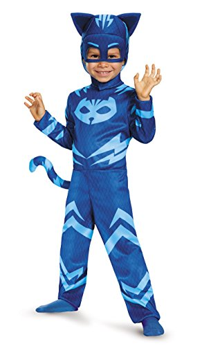 Cat Costumes Mask (Catboy Classic Toddler PJ Masks Costume, Large/4-6)