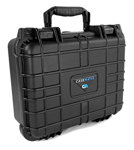 CASEMATIX Waterproof Carrying Case Designed For DBPower T20 1500 Lumens Home Theatre Projector , Remote , Power Supply , Cables and Accessories by CASEMATIX (Image #5)