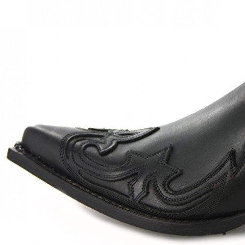 Senhoras Moda Mens Western amp; black Preto Botas De Bu1004 Botas qtSW50