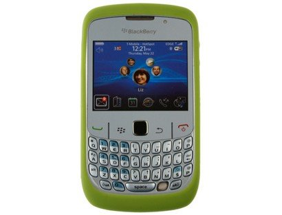 Silicone Skin Case Green Rim (OEM) Original HDW-24211-008 for BlackBerry Curve 8500 ()