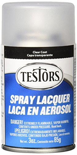 Testors Spray Lacquer 3oz, Clear Coat -
