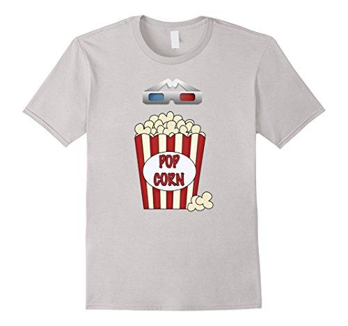 [Men's Popcorn - Funny Last Minute Halloween Costume T-Shirt Large Silver] (Last Minute Halloween Costumes Ideas For Adults)