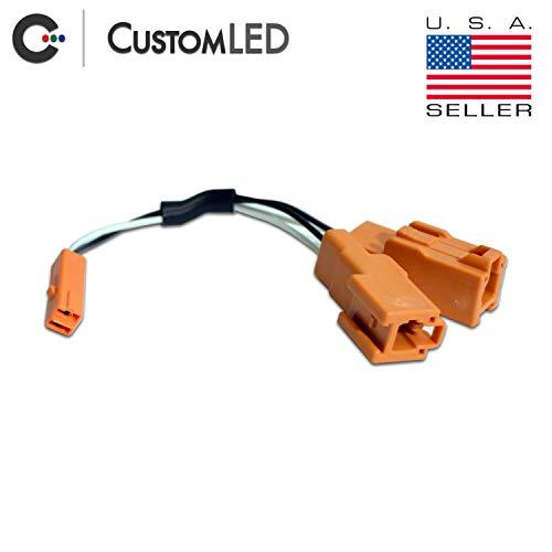 - OEM Turn Signal Y-Splitter Connectors Pair, 2-Wire, Fits Select Kawasaki Motorcycles
