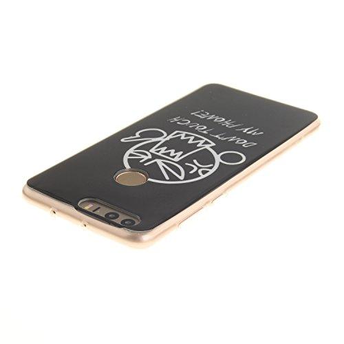 XiaoXiMi Funda Huawei Honor 8 Carcasa de Silicona Caucho Gel para Huawei Honor 8 Soft TPU Silicone Case Cover Funda Protectora Carcasa Blanda Caso Suave Flexible Caja Delgado Ligero Casco Anti Rasguño Hombre Enojado