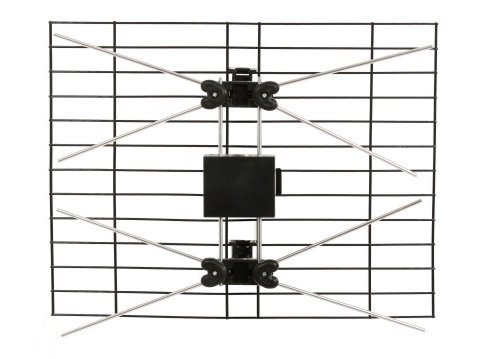 Indoor Outdoor TV Antenna - Dual Bowtie Bay HDTV Antenna Bow Tie Pickups