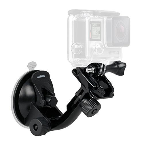 Sametop Suction Cup Mount Compatible with Gopro Hero 7, 6, 5, 4, Session, 3+, 3, 2, 1, Hero (2018), Fusion Cameras; Perfect for Car Windshield and Window