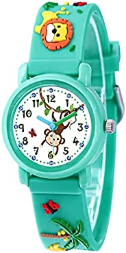 Clastyle Colorful 3D Kids Watch for Girls Boys Cute Cartoon Toddler Watches for Children
