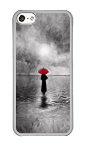 Apple Iphone 5C Case,WENJORS Personalized waiting in the sea II Hard Case Protective Shell Cell Phone Cover For Apple Iphone 5C - PC Transparent
