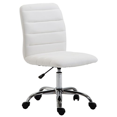 Poly and Bark Polox Task Chair in Vegan Leather, White